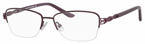 Saks Fifth Avenue - Saks A 300 53mm Eggplant Eyeglasses / Demo Lenses