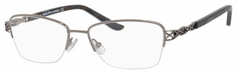 Saks Fifth Avenue - Saks A 300 51mm Ruthenium Eyeglasses / Demo Lenses