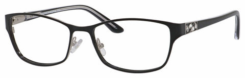 Saks Fifth Avenue - Saks A 301 54mm Shiny Black Ruthenium Eyeglasses / Demo Lenses