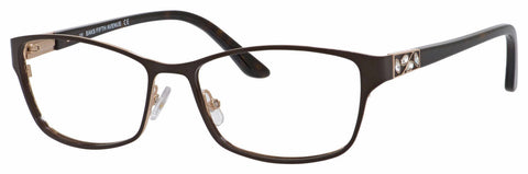 Saks Fifth Avenue - Saks A 301 54mm Brown Gold Eyeglasses / Demo Lenses