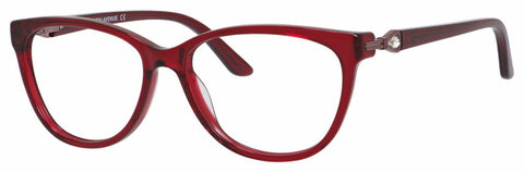 Saks Fifth Avenue - Saks A 302 54mm Burgundy Crystal Eyeglasses / Demo Lenses