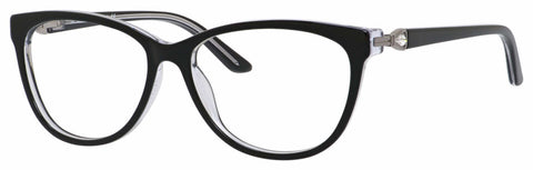 Saks Fifth Avenue - Saks A 302 54mm Black Crystal Eyeglasses / Demo Lenses