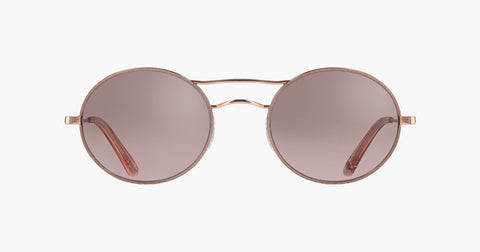 Garrett Leight - Sanborn Supernova Rose Gold Sunglasses / Semi Flat Pink Haze Mirror Lenses