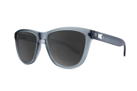 Knockaround - Premiums Frost Grey Sunglasses, Polarized Smoke Lenses