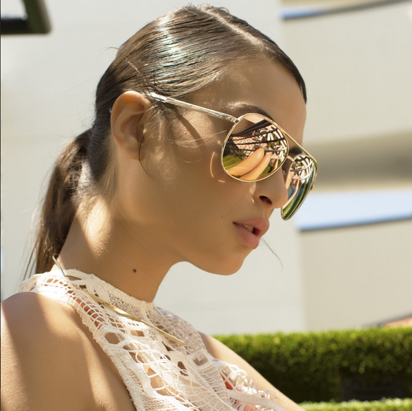 Quay x Shay Mitchell Vivienne Gold / Rose Sunglasses