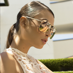 Quay Vivienne Gold / Rose Sunglasses