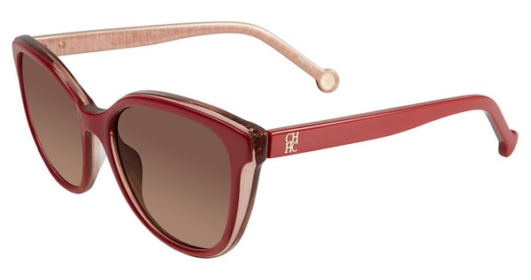 Carolina Herrera - SHE694 54mm Red Pearl Sunglasses / Maroon Lenses