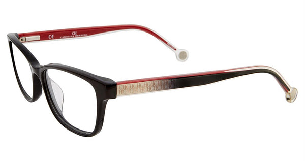 Carolina Herrera - VHE725K 50mm Black Eyeglasses / Demo Lenses