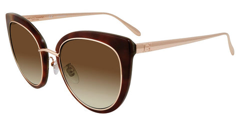 Carolina Herrera - SHN594M 53mm Tortoise Sunglasses / Brown Gradient Lenses