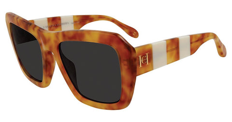 Carolina Herrera - SHN598 54mm Blonde Tortoise Sunglasses / Smoke Lenses