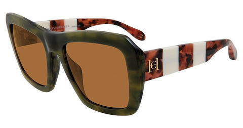 Carolina Herrera - SHN598 54mm Olive Sunglasses / Gray Lenses