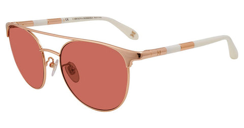 Carolina Herrera - SHN051M 54mm Rose Gold Sunglasses / Pink Lenses