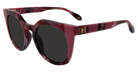 Carolina Herrera - SHN595 50mm Burgundy Sunglasses / Smoke Lenses