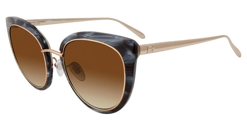 Carolina Herrera - SHN594M 53mm Blue Marble Sunglasses / Brown Gradient Lenses