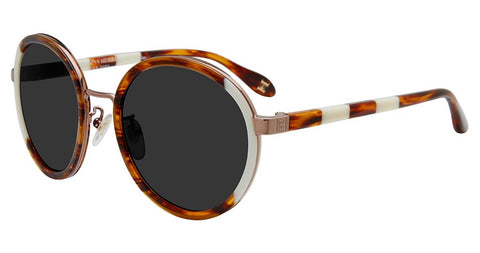 Carolina Herrera - SHN050M 53mm Light Tortoise Sunglasses / Smoke Lenses