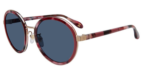 Carolina Herrera - SHN050M 53mm Burgundy Sunglasses / Blue Lenses
