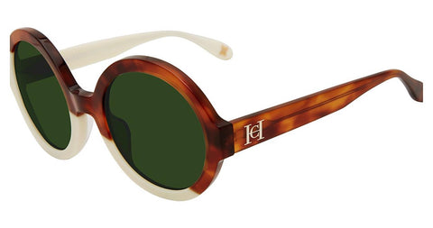 Carolina Herrera - SHN597 53mm Light Tortoise Sunglasses / Green Lenses