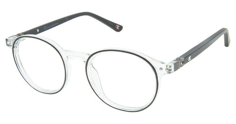 Champion - 7022 45mm Black Crystal Eyeglasses / Demo Lenses