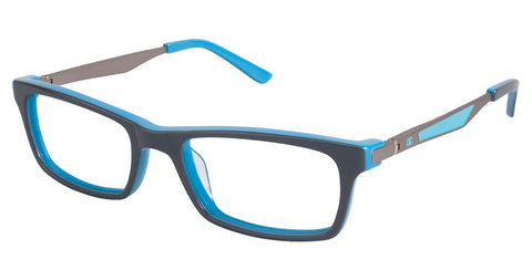 Champion - 7004 49mm Shiny Grey Eyeglasses / Demo Lenses