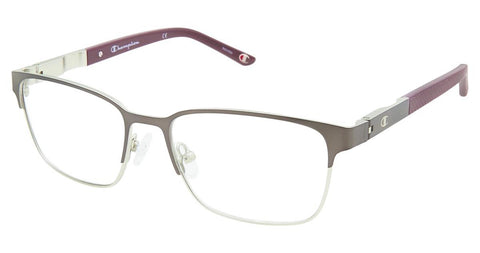 Champion - 7023 52mm Gunmetal Maroon Eyeglasses / Demo Lenses