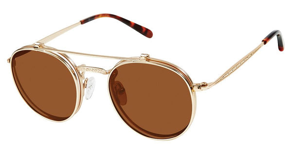 Champion - 1003H 47mm Gold Sunglasses / Brown Lenses