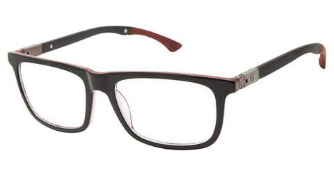 Champion - Goodluck 52mm Black Red Eyeglasses / Demo Lenses