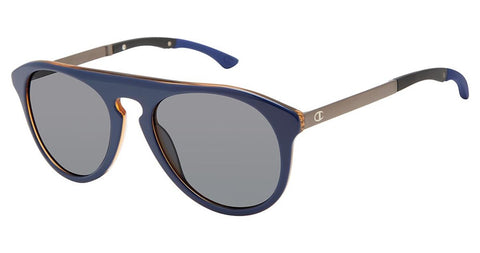 Champion - Adjust 54mm Navy Brown Sunglasses / Dark Grey Polarized Lenses