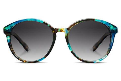 Shwood Bailey Acetate Blue Opal / Grey Fade Polarized Sunglasses