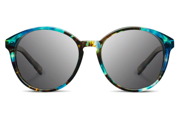 Shwood - Bailey Acetate Blue Opal / Grey Sunglasses