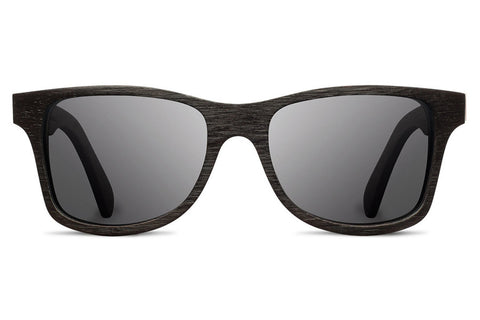 Shwood - Kennedy Acetate Black / Grey Polarized Sunglasses