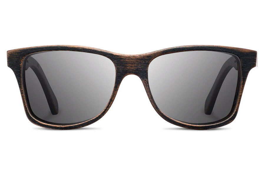 Shwood - Canby Distressed Dark Walnut / Grey Polarized Sunglasses
