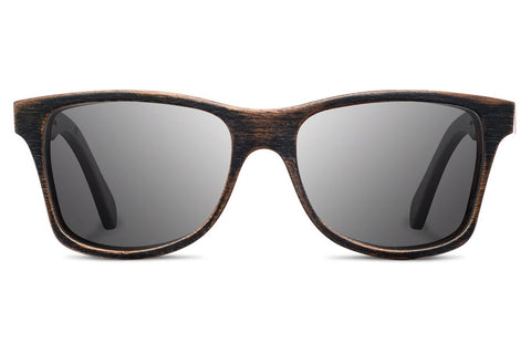 Shwood Canby Distressed Dark Walnut / Grey Polarized Sunglasses