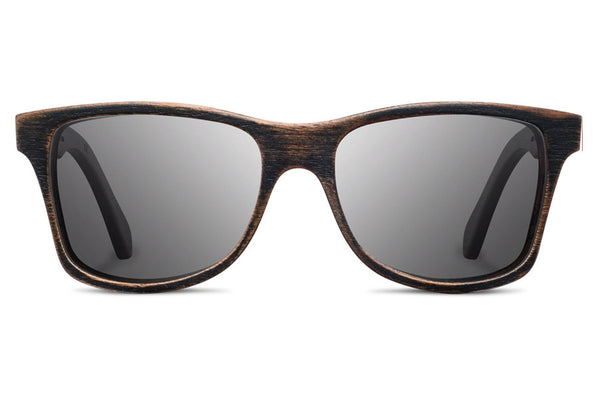 Shwood - Canby Distressed Dark Walnut / Grey Sunglasses