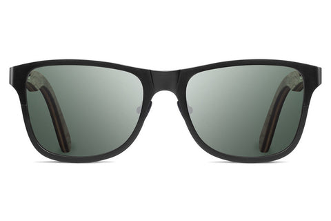 Shwood - Canby Titanium Black / G15 Polarized Sunglasses