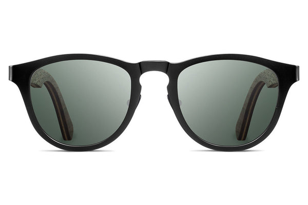 Shwood - Francis Titanium Black / G15 Polarized Sunglasses