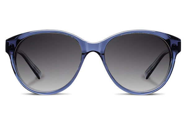 Shwood - Madison Acetate Blue Crystal / Grey Fade Polarized Sunglasses