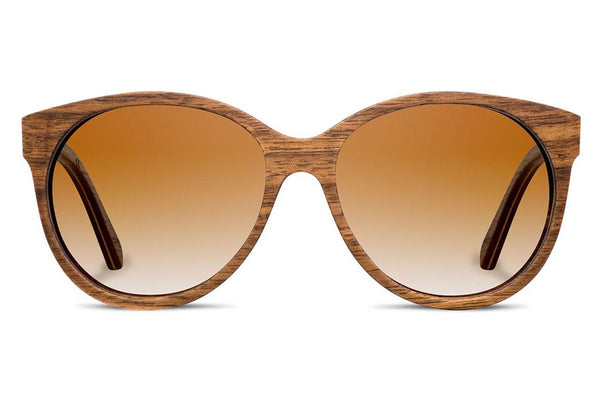 Shwood - Madison Walnut / Brown Fade Polarized Sunglasses