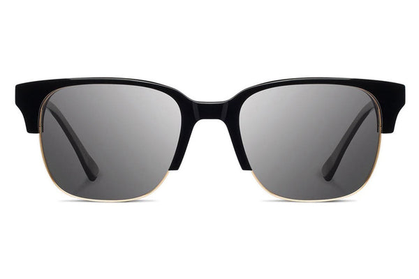 Shwood - Newport 52mm Acetate Black / Grey Polarized Sunglasses