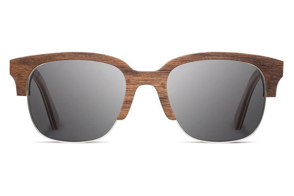 Shwood - Newport 52mm Walnut / Grey Sunglasses