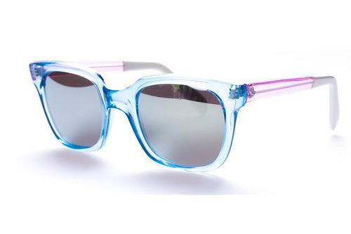 Sheriff&Cherry G11S Sky Pink Sunglasses, Mirror Lenses