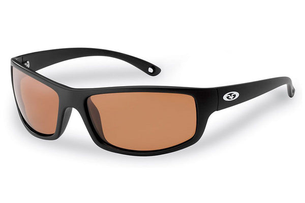 Flying Fisherman - Slack Tide 7756 Matte Black Sunglasses, Copper Lenses