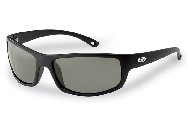 Flying Fisherman - Slack Tide 7756 Matte Black Sunglasses, Smoke Lenses