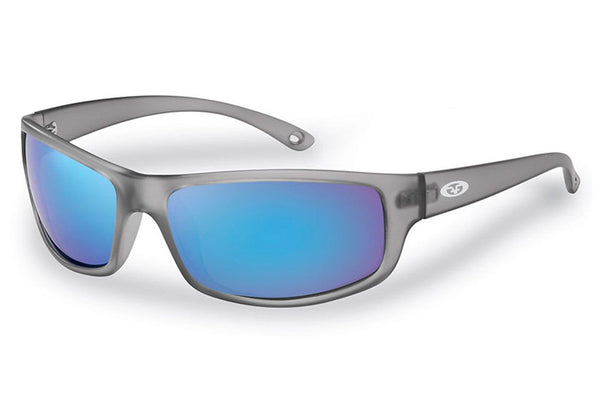 Flying Fisherman - Slack Tide 7756 Granite Sunglasses, Smoke-Blue Mirror Lenses