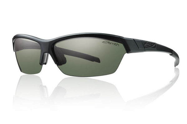 Smith - Approach Matte Black Sunglasses, Polarized Gray Green Lenses