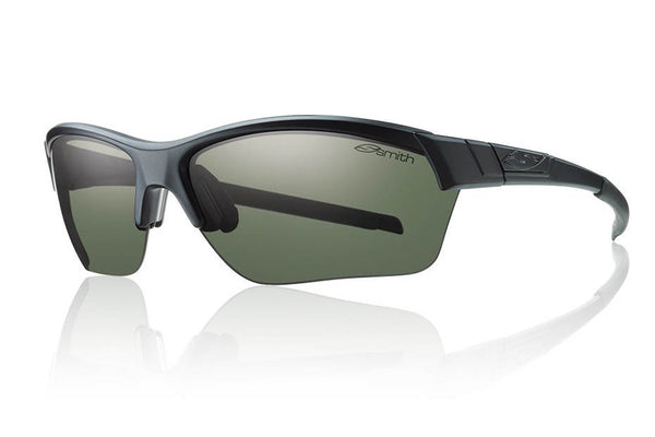 Smith - Approach Max Matte Black Sunglasses, Polarized Gray Green Lenses