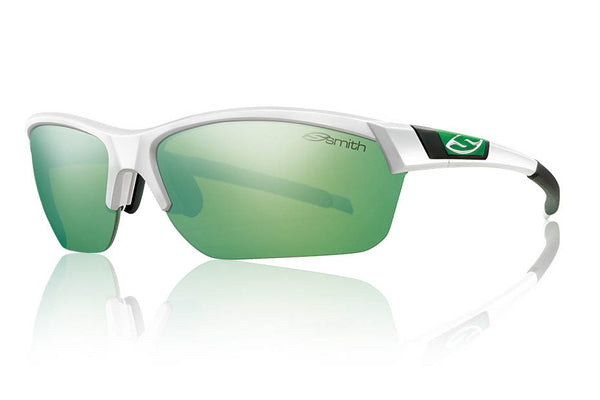 Smith - Approach Max White Sunglasses, Green Sol-X Mirror Lenses