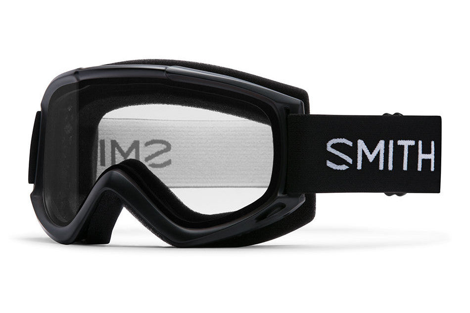 Smith Cascade Classic Black Goggles, Clear Lenses