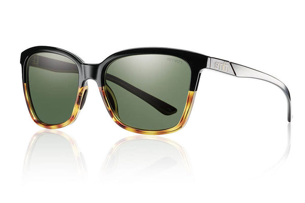 Smith Colette Black Fade Tortoise Sunglasses, Gray Green Lenses