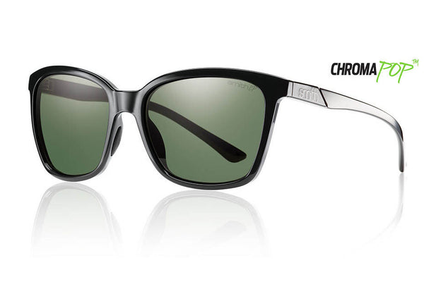 Smith - Colette Black Sunglasses, Chromapop Polarized Gray Green Lenses