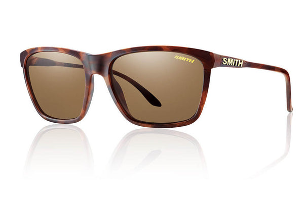 Smith - Delano Matte Tortoise Sunglasses, Polarized Brown Lenses